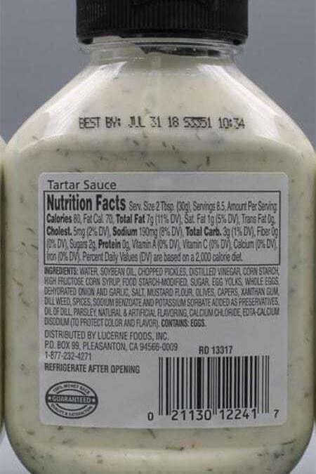 Egg Allergy Alert – Waterfront Bistro Tartar Sauce