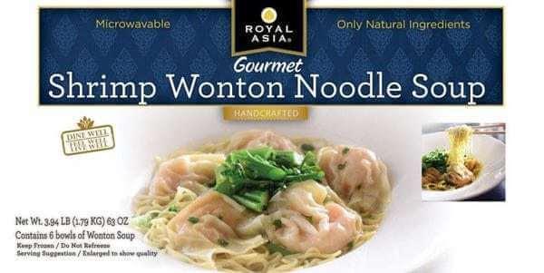 Egg Allergy Alert – Royal Asia Shrimp Wonton Noodle Soup