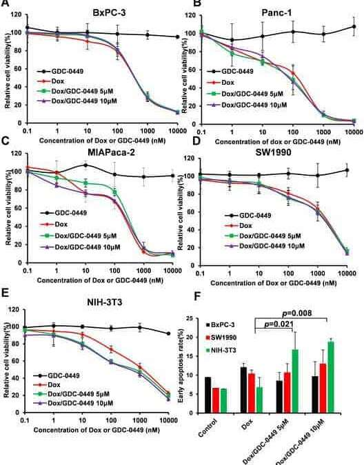 GDC-0449 improves the antitumor activity of nano-doxorubicin in pancreatic cancer in a fibroblast-enriched microenvironment