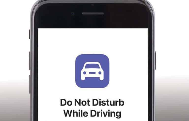 No cellphones while driving