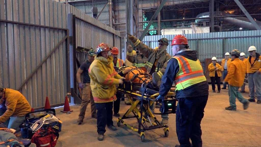 Nucor Teammates and First Responders Participate in Mock Explosion Safety Drill